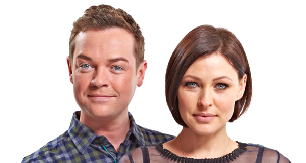 Stephen Mulhern and Emma Willis